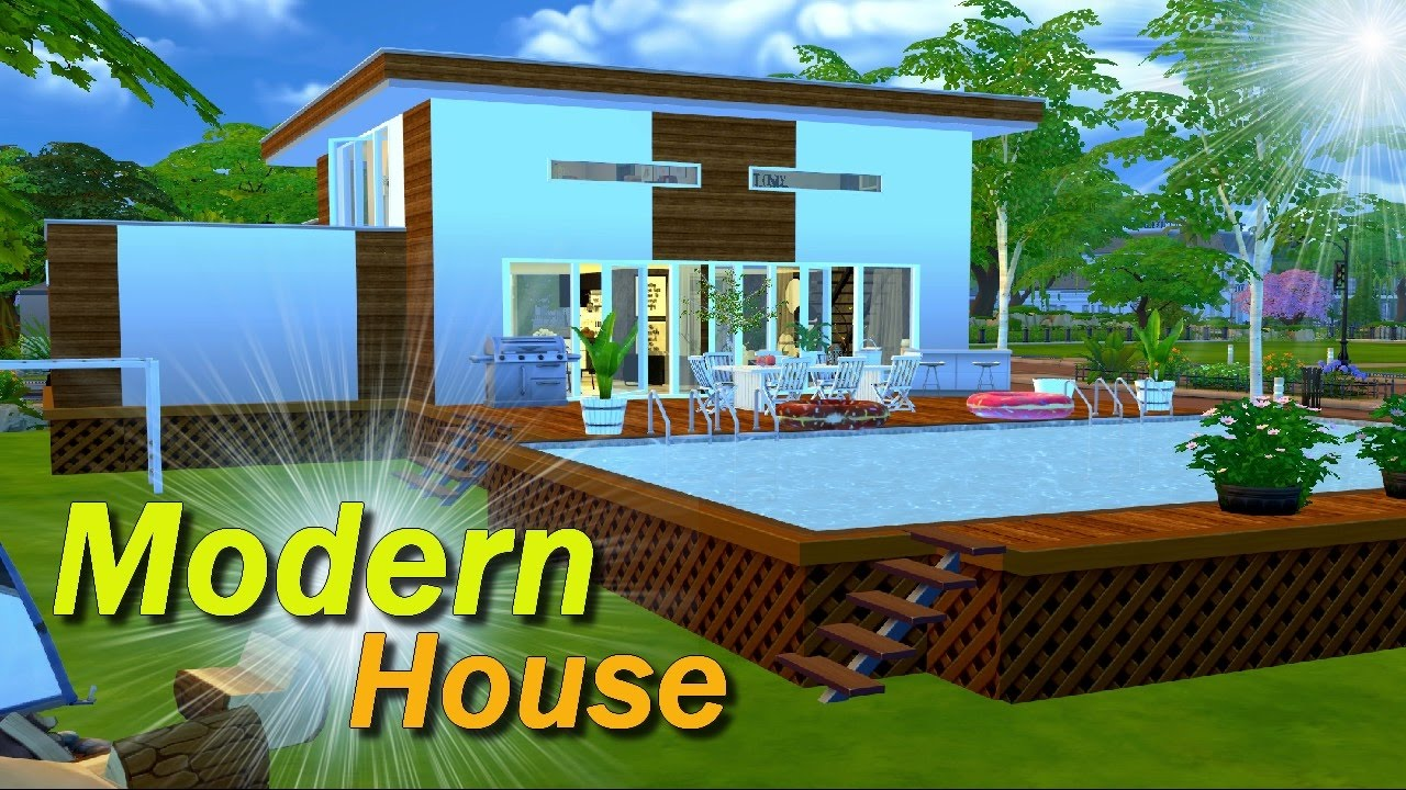 Ts4 modern house part 1 youtube for Keralis modern house 9 part 1
