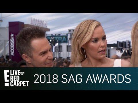 Sam Rockwell & Leslie Bibb Share Saucy Relationship Tips | E! Red Carpet & Award Shows