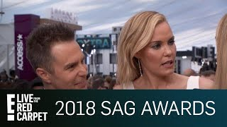 Sam Rockwell & Leslie Bibb Share Saucy Relationship Tips | E! Live from the Red Carpet