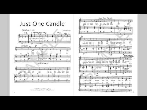 Just One Candle - MusicK8.com Singles Reproducible Kit