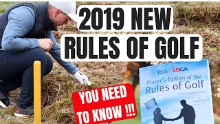 NEW GOLF RULES FOR 2019... YOU NEED TO KNOW!