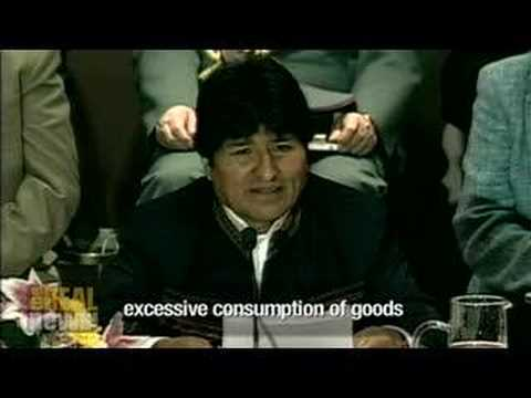 Morales calls for 'reparations to the earth'