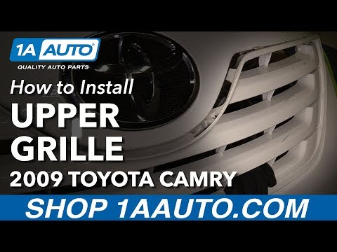 How to Install Replace Upper Grille 2007-09 Toyota Camry