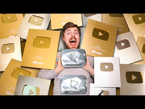 All My YouTube Play Buttons - MrBeast Shorts