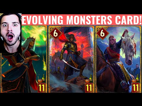 REACTING TO MONSTERS EVOLVING CARD TRAILER [GWENT]