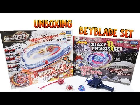 Unboxing Galaxy Pegasis DX Set & Beyblade Start Dash Set G Zero Review