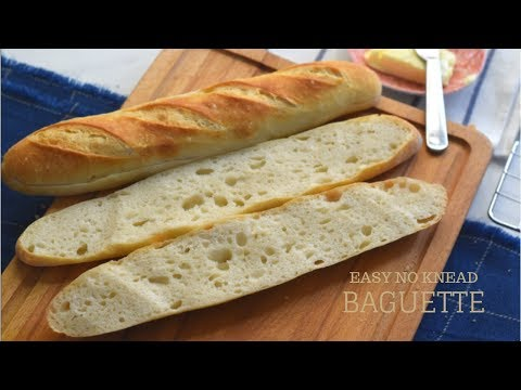 HOW TO MAKE FRENCH BAGUETTES AT HOME / Easy No Knead French Bread Recipe