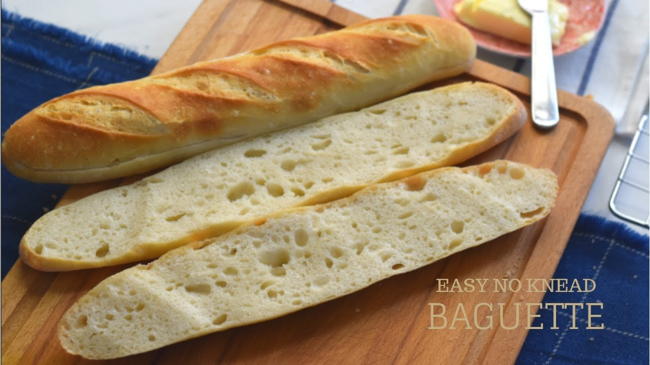 HOW TO MAKE FRENCH BAGUETTES AT HOME / Easy No Knead ...
