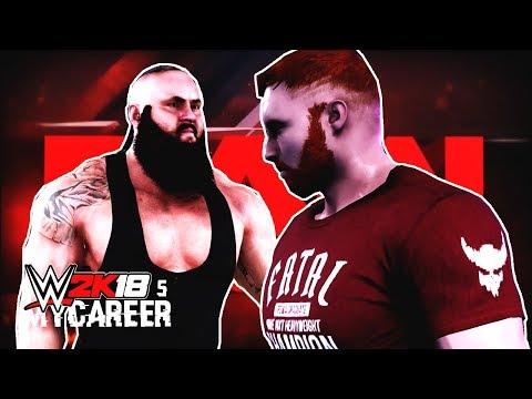 WWE 2K18 My Career Mode Ep 5 - Raw Debut! BRAAUUUNN!