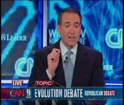 June 5th Debate: Mike huckabee on Evolution
