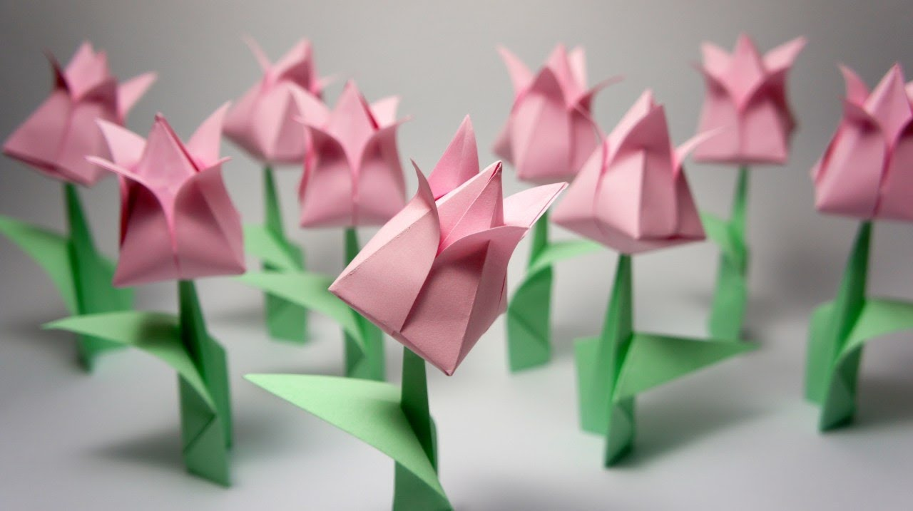 Origami tulip youtube jeuxipadfo Image collections