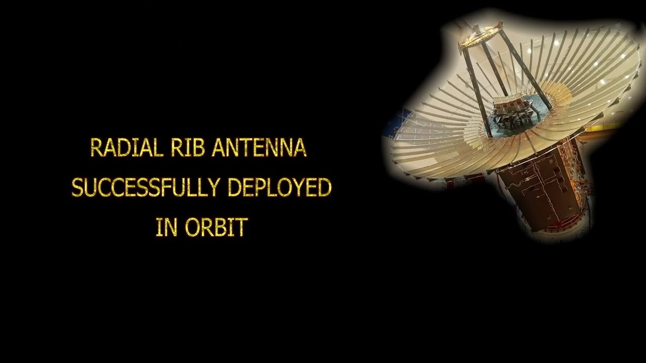 Radial Rib Antenna deployment of Earth Observation Satellite (EOS-01) as observed by onboard cameras