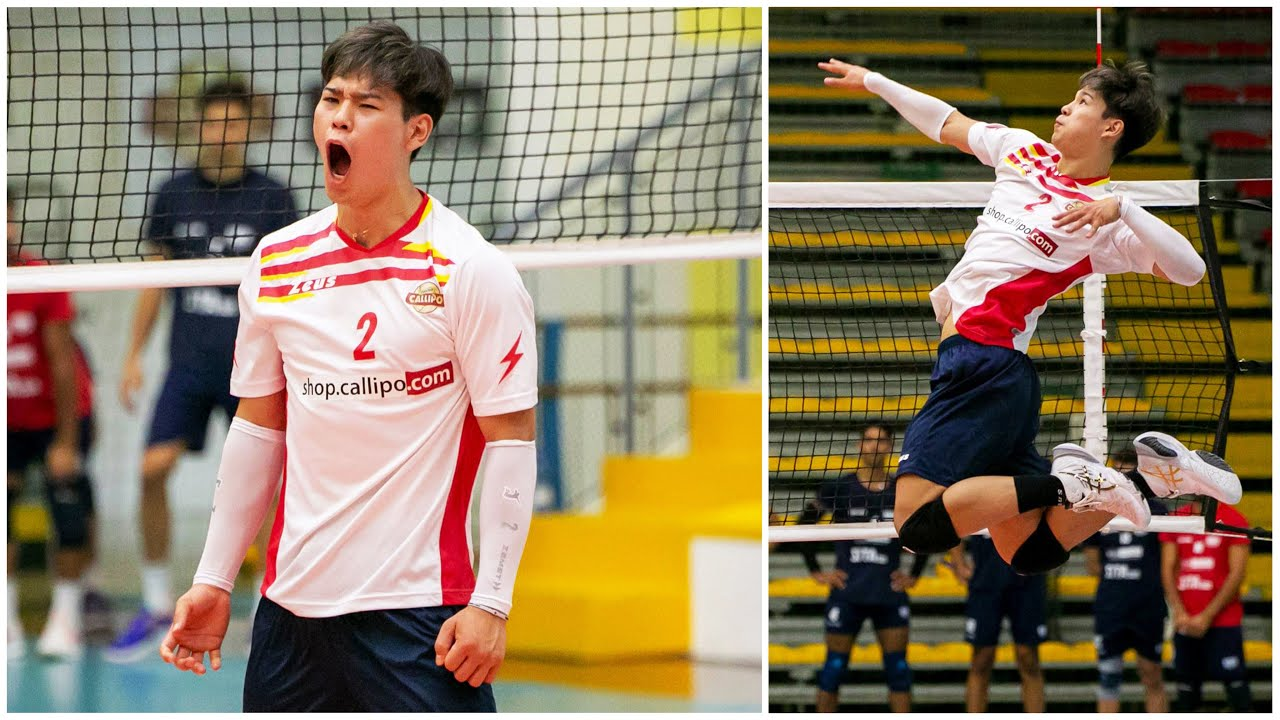 Yuji Nishida's First Match in Italy   3 Aces IN A ROW in His Superlega Debut !!!