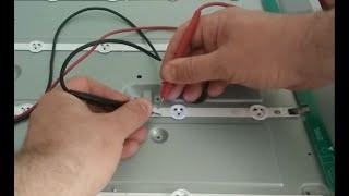 Самостоятельный ремонт подсветки в телевизоре TV LG 42LA615, изменение тока светодиодов