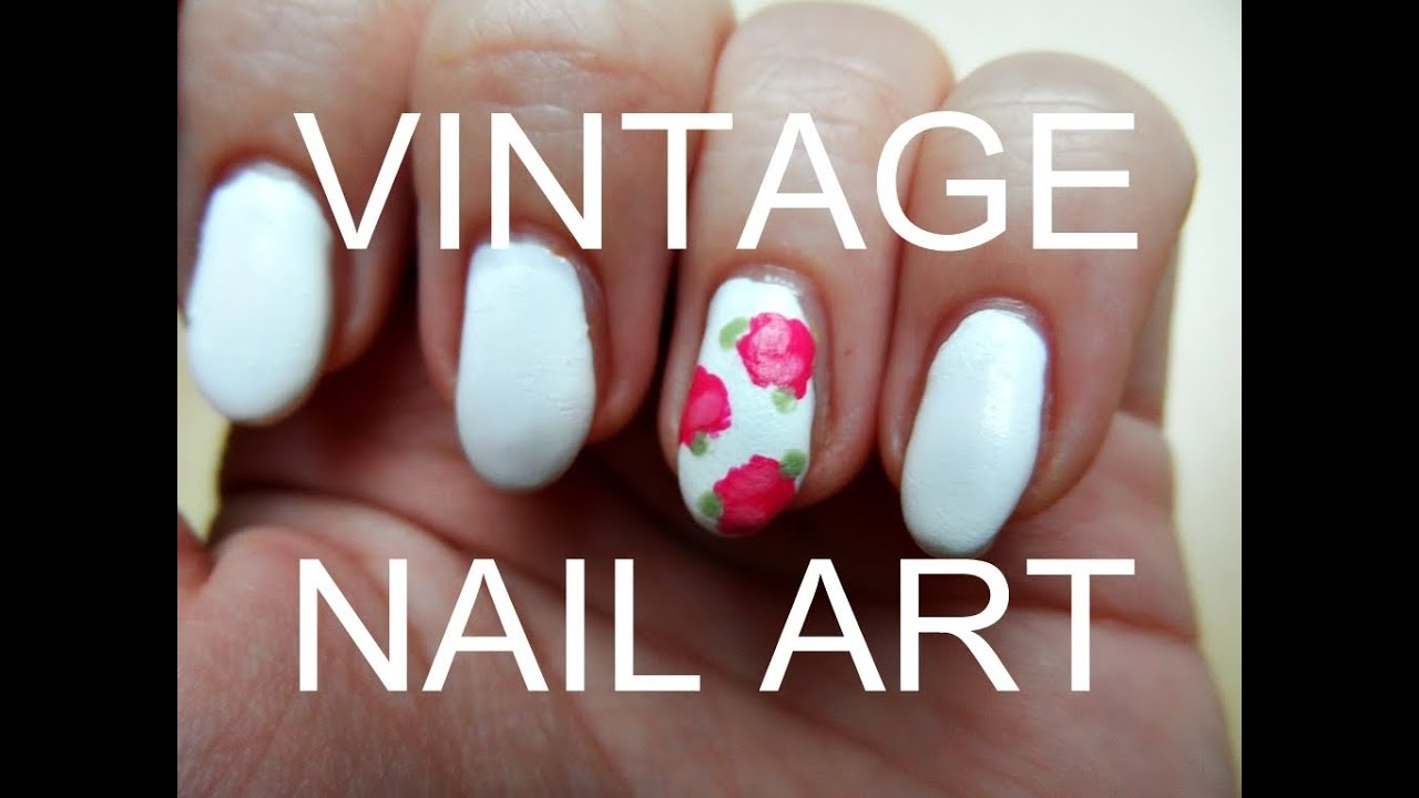 vintage nailart rosen tutorial youtube. Black Bedroom Furniture Sets. Home Design Ideas