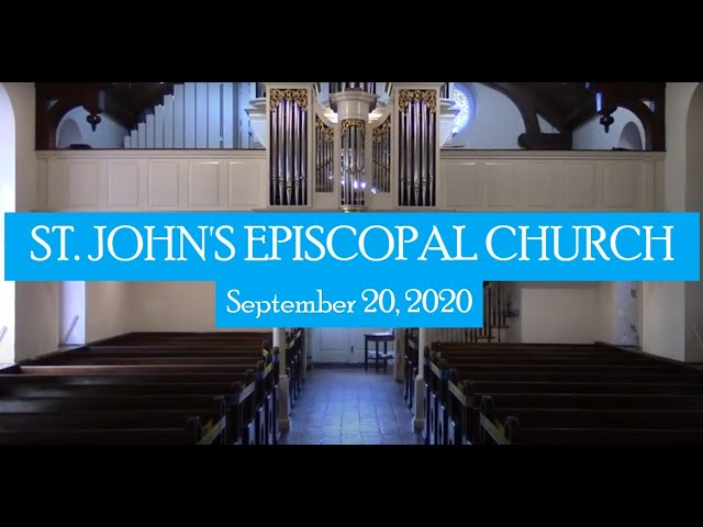 St. John's indoor service September 20, 2020