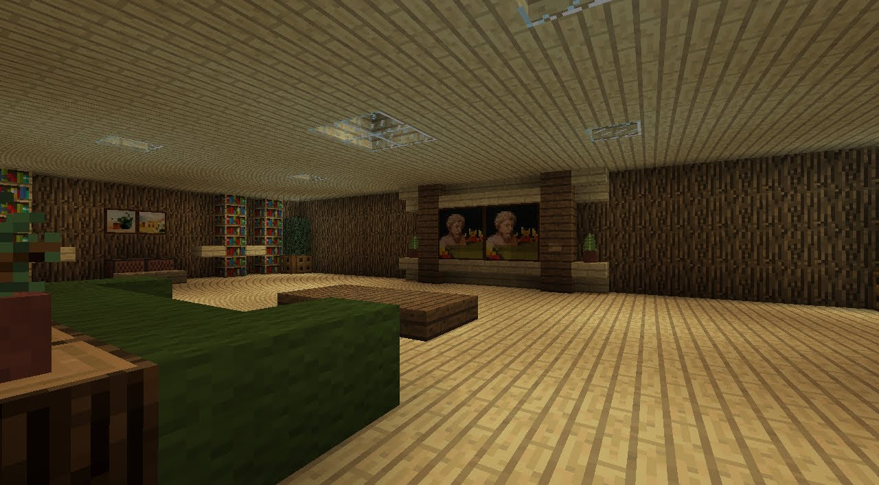 Cool Living Room Designs Minecraft minecraft: cool living room design - youtube