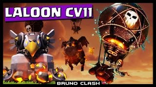 LALOON no CV11 FULL DEFESAS E HERÓIS (Grand Warden) - Clash of Clans - Bruno Clash