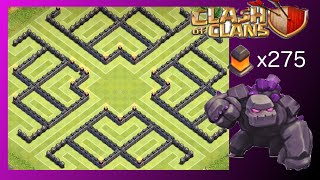 "TH10 Farm Base ""The Claw"" (Post-Update - 275 Walls) - Clash Of Clans"