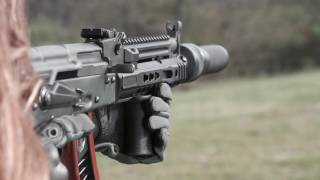 E.G.-K AK47 Full Auto With Dead Air Silencers PBS-1 In Slow Motion