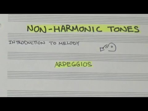 Escapes, Neighbors, and Other Non-Harmonic Tones