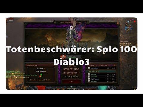 Totenbeschwörer: Solo Rift 100  (Gameplay, Items & Skills)