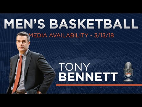 MEN'S BASKETBALL - Tony Bennett Pre-NCAA Media Availability