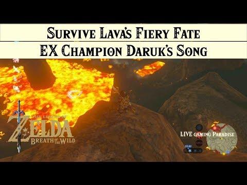 Breath of the Wild | EX Champion Daruk's Song [DLC 2] Walkthrough [Trial 3 Lava's Fiery Fate] |