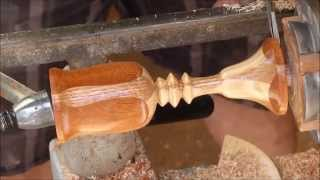 Wood Turning With Naked Turner Segmented Goblet And Sharpening Scraper And Bowl Gouge
