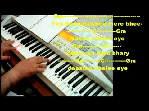 Zuban Pe Dard Bhare Daastan Chalee Ayee Scale And Chord Youtube