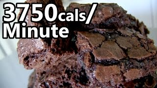 25 Double-Fudge Brownies Eaten in 1 Minute!