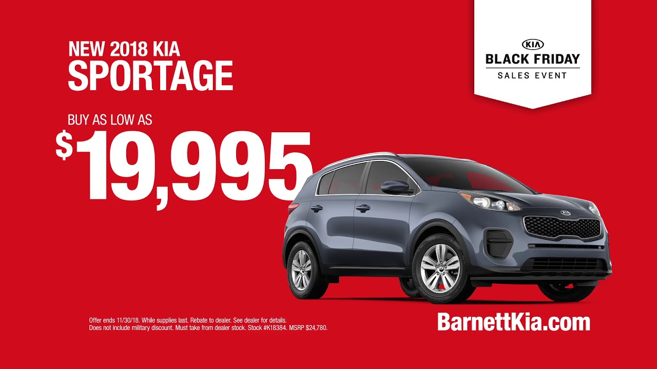 Barnett Kia Black Friday Sales Event Youtube