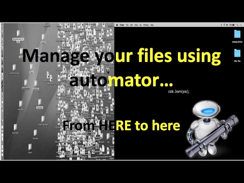 How to easily Organize Files on Mac using Automator 2017