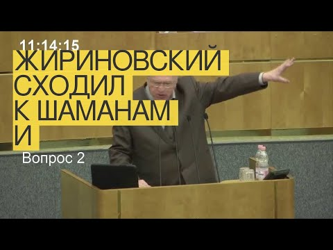 Жириновский сходил кшаманам и«избавился» отпорчи
