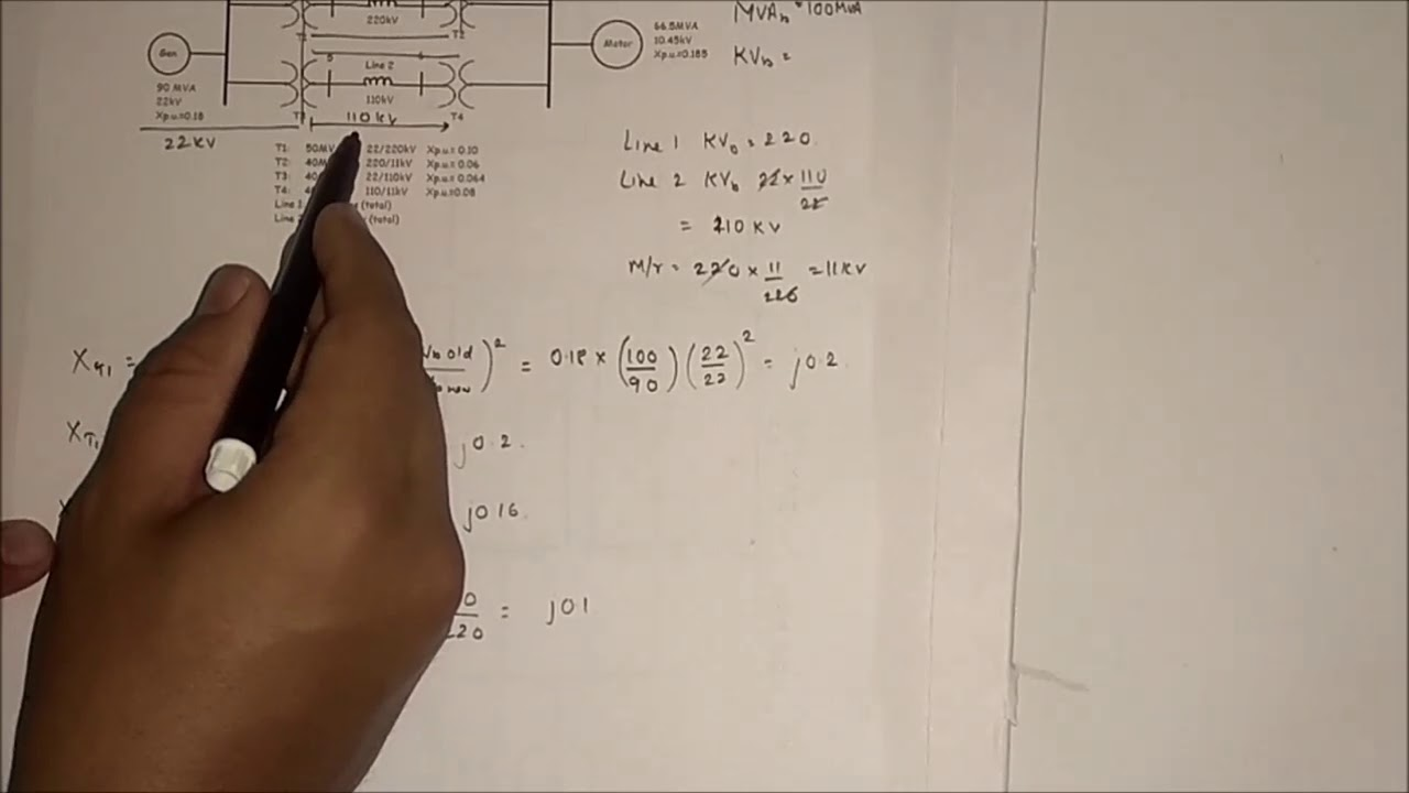 Solving per unit system numerical and impedance diagram in power solving per unit system numerical and impedance diagram in power system analysis pt 2 ccuart Images