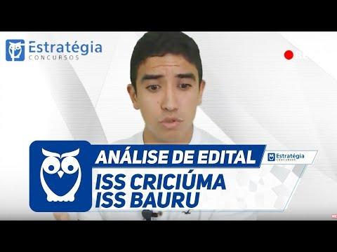 ISS Criciúma e Bauru - Análise dos Editais   Ao Vivo