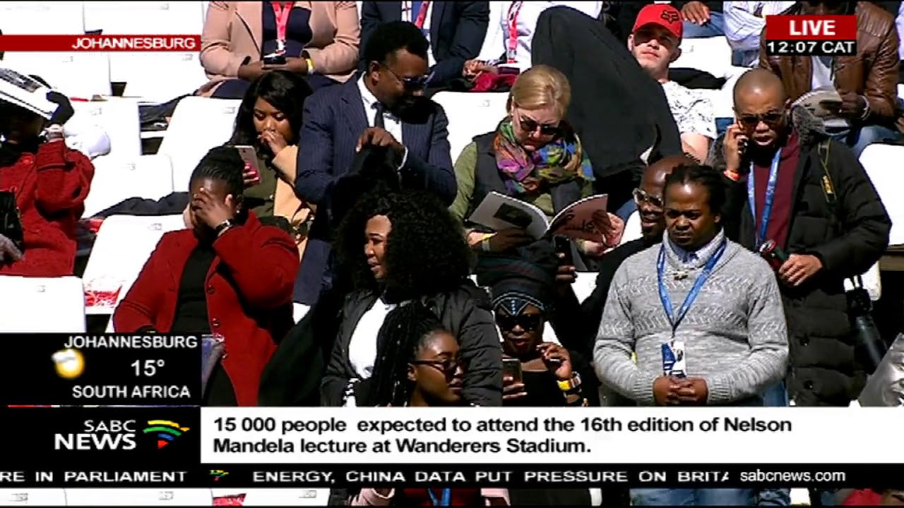 Countdown to the Mandela lecture with former US President Barack Obama