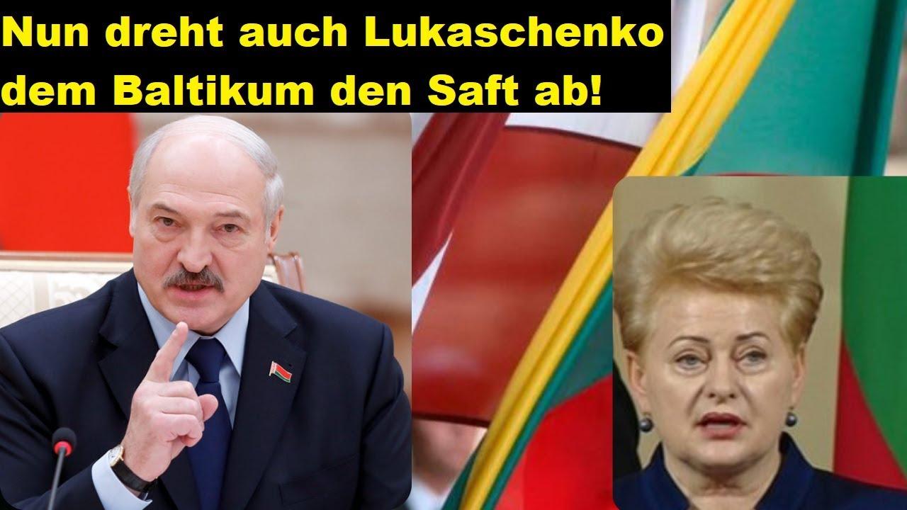 Nun dreht auch Lukaschenko den baltischen Ländern den Saft ab! Gemeinsam mit Putin