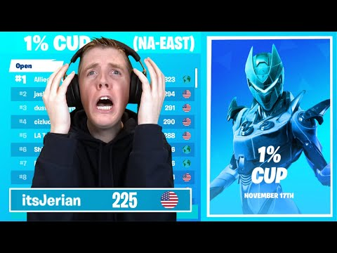How I Nearly Qualified For The 1% Cup Finals! - Fortnite Battle Royale