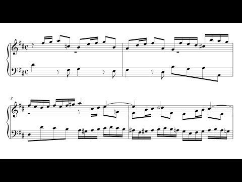 Bach: Sinfonia 3 in D Major, BWV 789 (Urtext Edition)