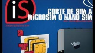 Nano SIM para iPhone 5 en Monterrey