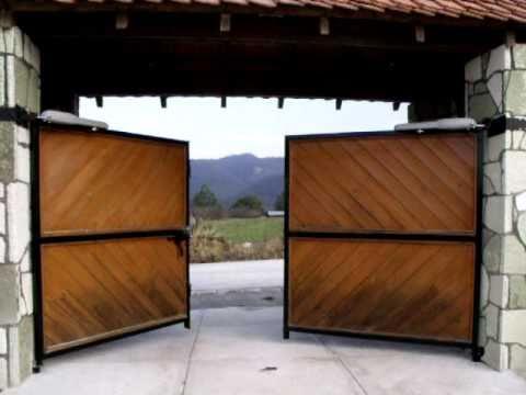 27 automatizaci n de puerta abatible con pistones - Automatizacion de puertas ...