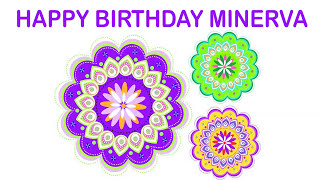 Minerva   Indian Designs - Happy Birthday