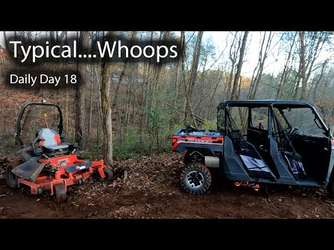 This Is Happening All Too Often - Crashed The Riding Lawnmower || Daily Vlog Day 18