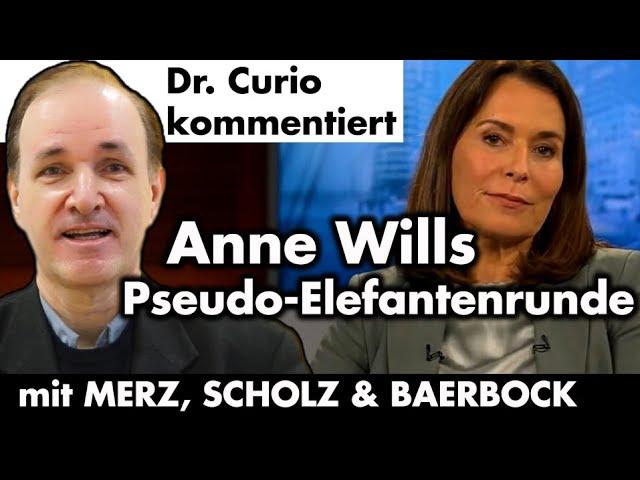 Kommentar der Anne-Will-Sendung mit den drei Kanzleranwärtern Merz, Scholz und Baerbock