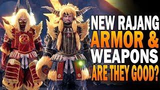 NEW Rajang Armor & Weapons Review! Monster Hunter World Iceborne Rajang Update
