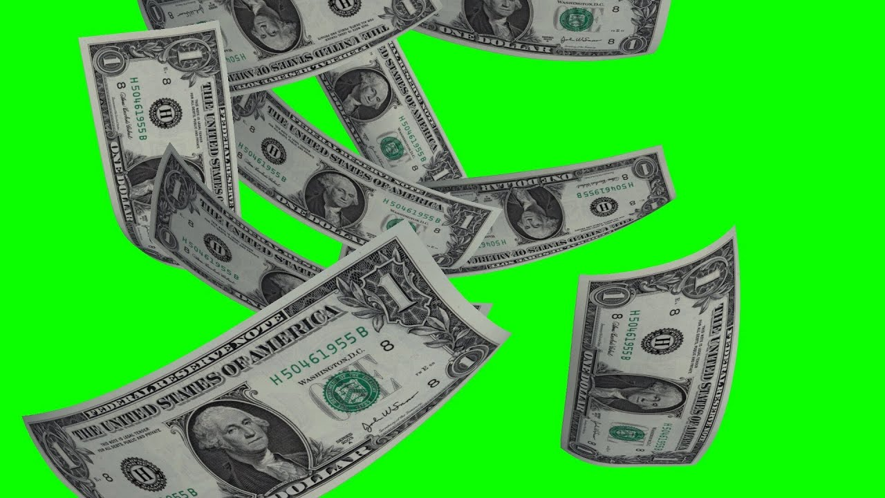 Falling Money Wallpaper Hd Doller Rain On Green Screen Free Green Screen Youtube