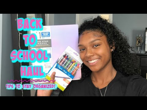 BACK TO SCHOOL HAUL  HOW TO STAY ORGANIZED