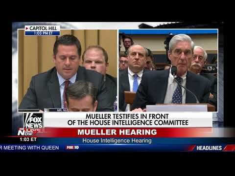 """WATCH: Devin Nunes Says Russia """"Hoax"""" Has Gone On Too Long - Mueller Hearing"""