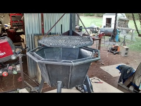 Small fire pit grill build
